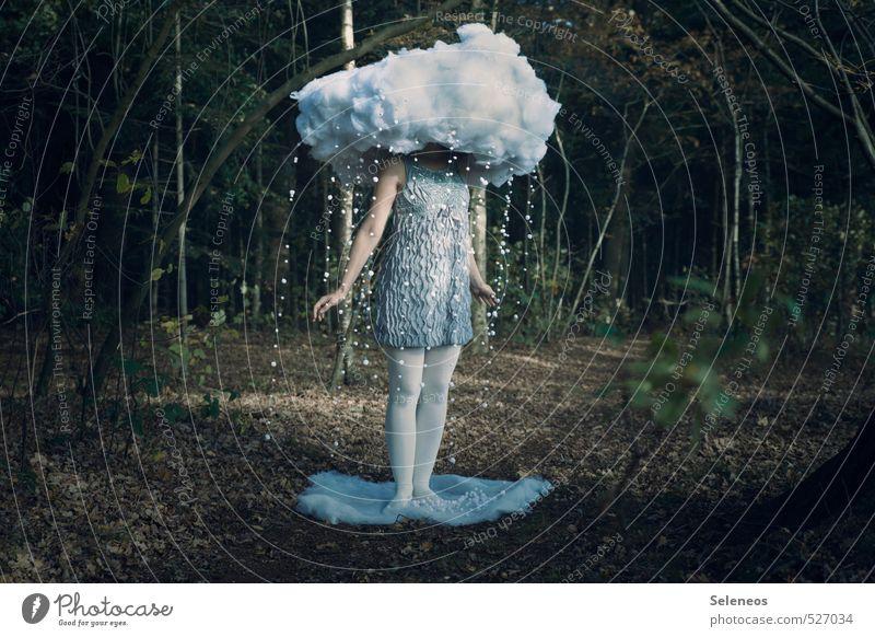früher war mehr schnee Winter Schnee Mensch Frau Erwachsene 1 Umwelt Natur Landschaft Wolken Herbst Schneefall Pflanze Baum Wald Kleid Strumpfhose Watte kalt