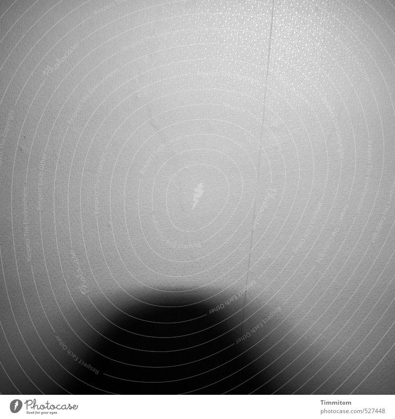 Fuhgeddaboudit! Tapete Raum Wand Muster Linie Schatten Bewegung Bewegungsunschärfe beobachten Blick bedrohlich dunkel grau schwarz Gefühle Angst Irritation