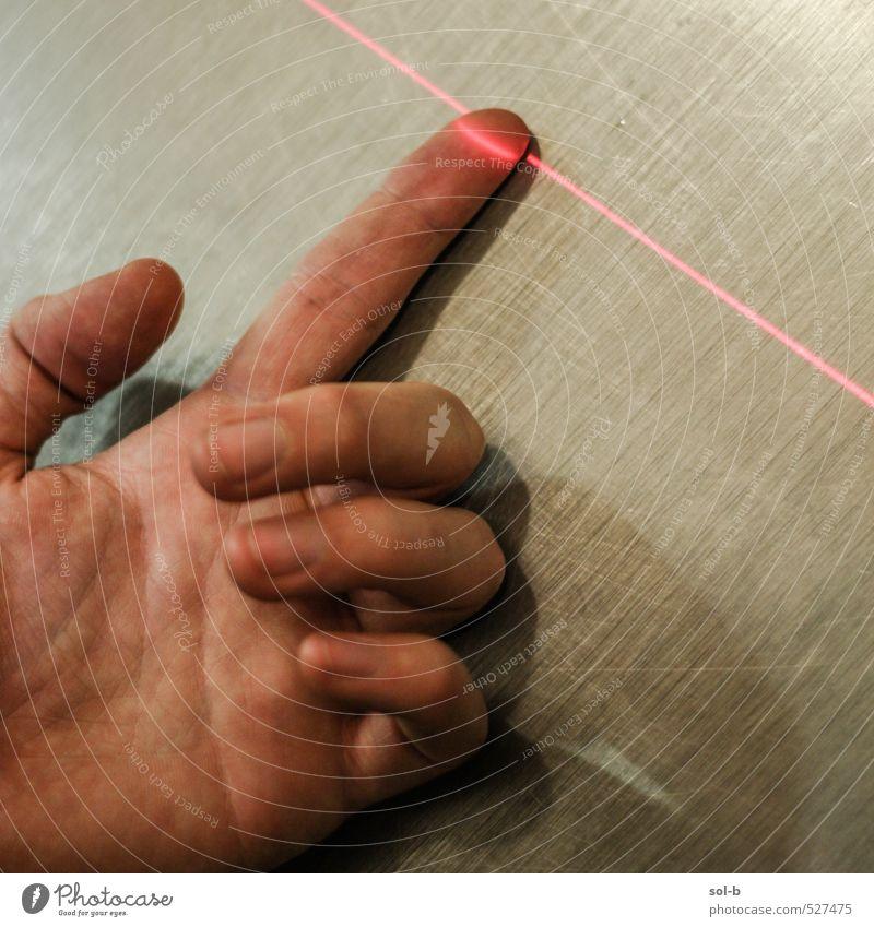 Hand Arbeit & Erwerbstätigkeit maskulin modern Zukunft Finger bedrohlich Technik & Technologie heiß Wissenschaften Informationstechnologie Identität Fortschritt