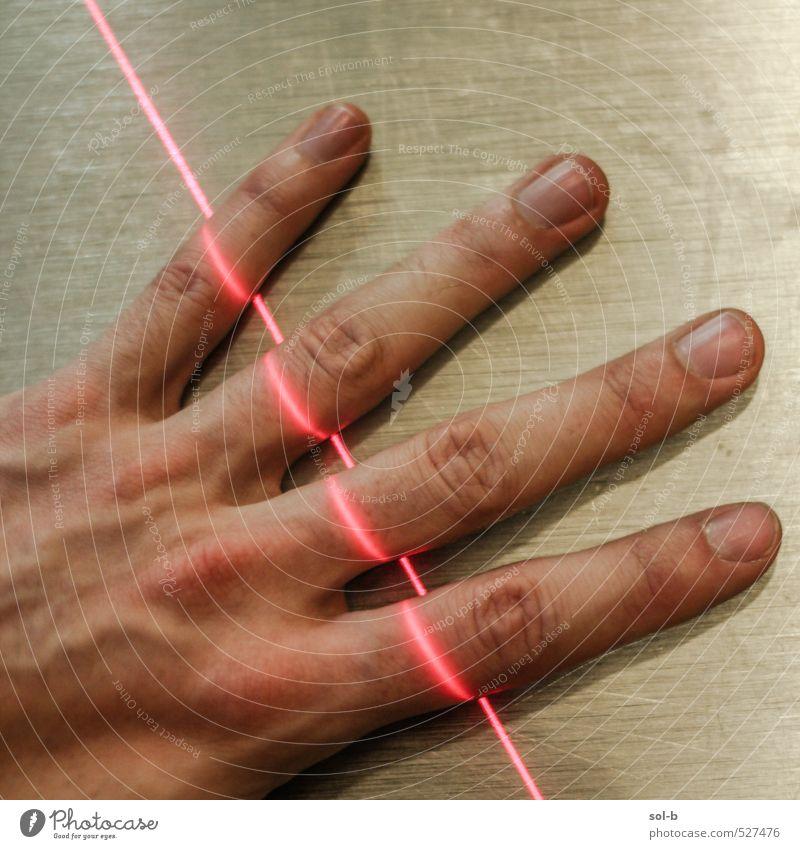fingeRot Gesundheitswesen Behandlung Kur Arbeit & Erwerbstätigkeit Arbeitsplatz Technik & Technologie Wissenschaften High-Tech maskulin Hand 1 Finger leuchten