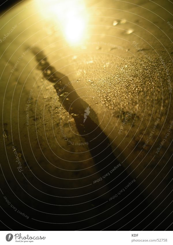 Fluss Wassertropfen Seil Spuren Spiegel Lichtschein Wasserspiegelung