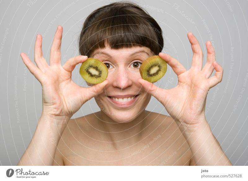 fruchtig III Jugendliche nackt Junge Frau Freude Leben Gesunde Ernährung lustig Glück Gesundheit Lebensmittel Frucht Zufriedenheit Lächeln frisch Fröhlichkeit Energie