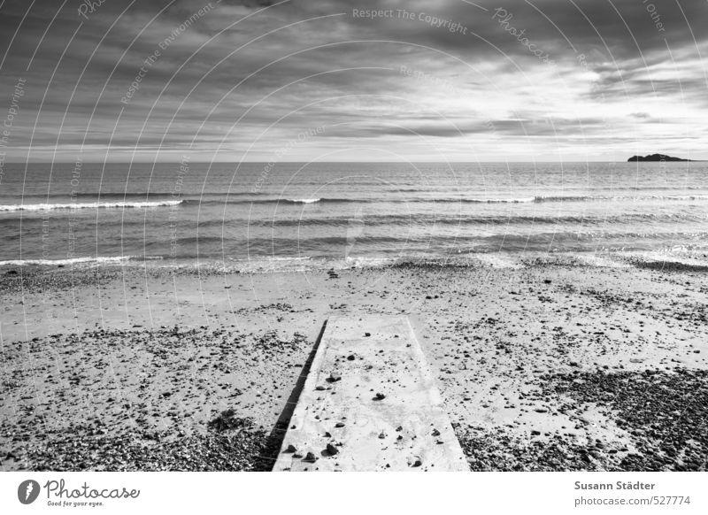Wusch! Sonne Meer Landschaft Strand kalt Küste Wellen Insel Schönes Wetter Steg Republik Irland steinig nur Himmel