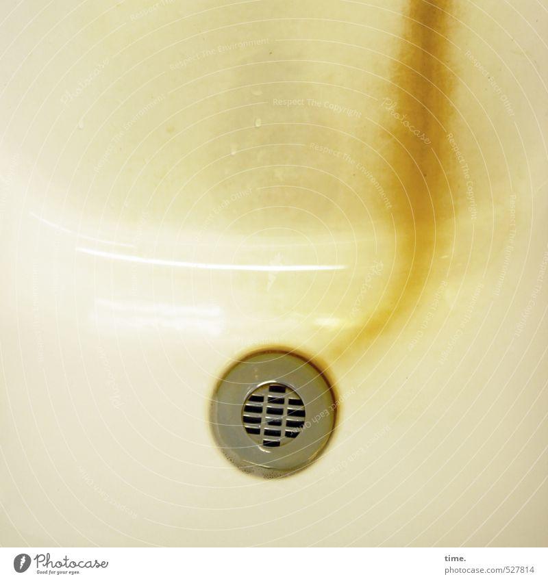Küche | Lebenslinie Häusliches Leben Wohnung Renovieren Innenarchitektur Waschbecken Abfluss Kalkstein kalkfleck kalkspur Oberfläche Emaille Metall dreckig