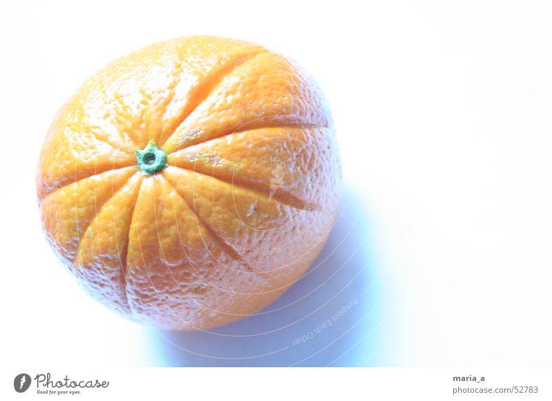 FaltenOrange Licht fruchtig kalt Knöpfe orange hell Schatten blau Frucht