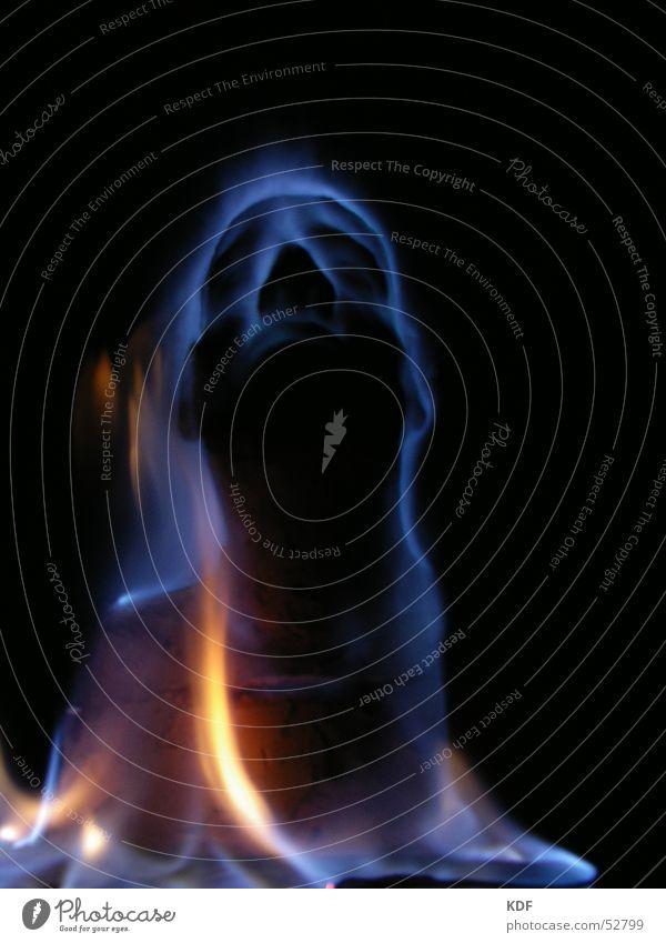 Meditation Gesicht Langzeitbelichtung außergewöhnlich obskur skurril bizarr brennen Mensch Skulptur Geister u. Gespenster mystisch Flamme unheimlich Erscheinung