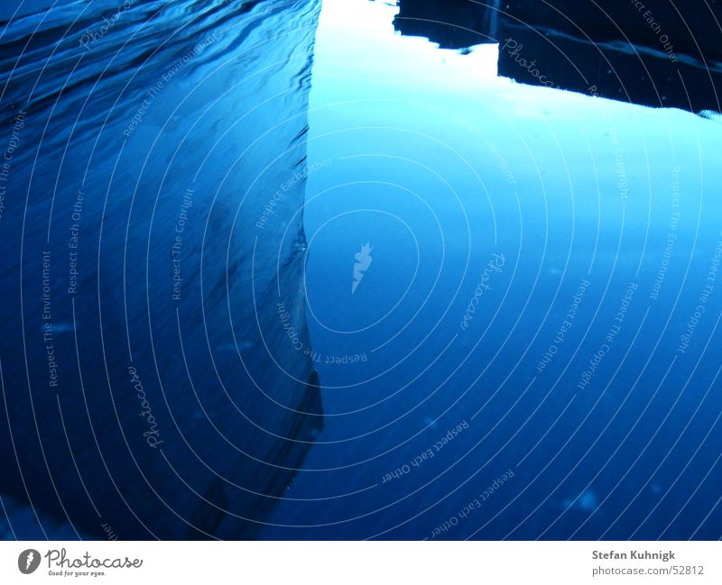 wasserspiegel Wasser Himmel blau Wolken Spiegel Pfütze Glätte Folie Firmament