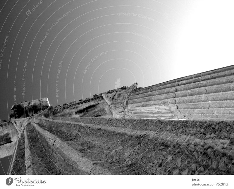 Tempel Apollon Türkei antik Schwarzweißfoto Himmel Säule Stein alt verdammtalt jarts