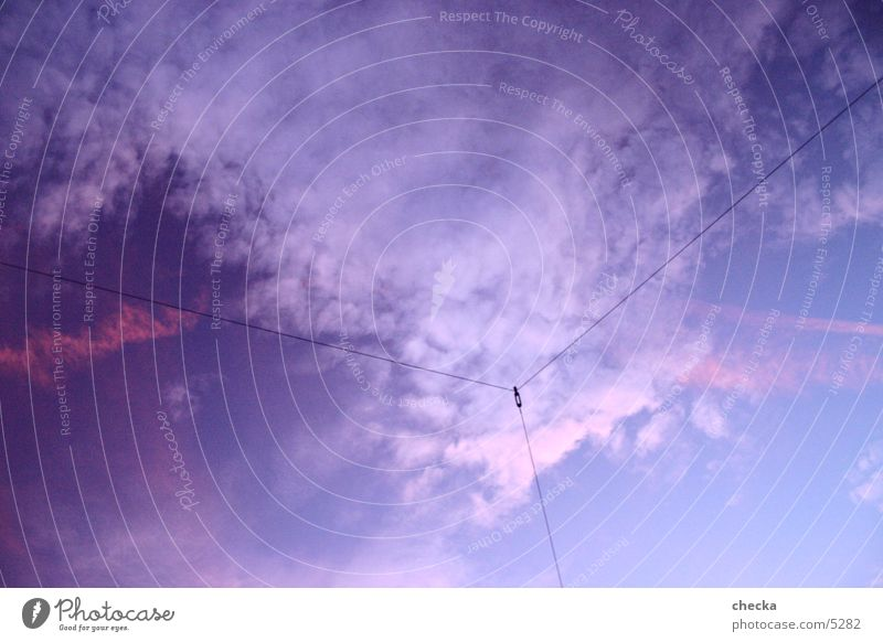 3 lines blau Wolken Linie 3 Verbindung Vernetzung Fototechnik