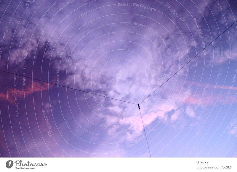 3 lines Wolken Vernetzung Fototechnik Linie blau Verbindung