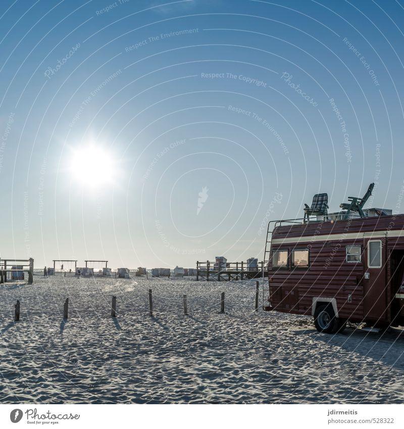 Beach Camping Ferien & Urlaub & Reisen Tourismus Ausflug Freiheit Sommer Sommerurlaub Sonne Strand Meer Natur Landschaft Sand Wasser Himmel Wolkenloser Himmel