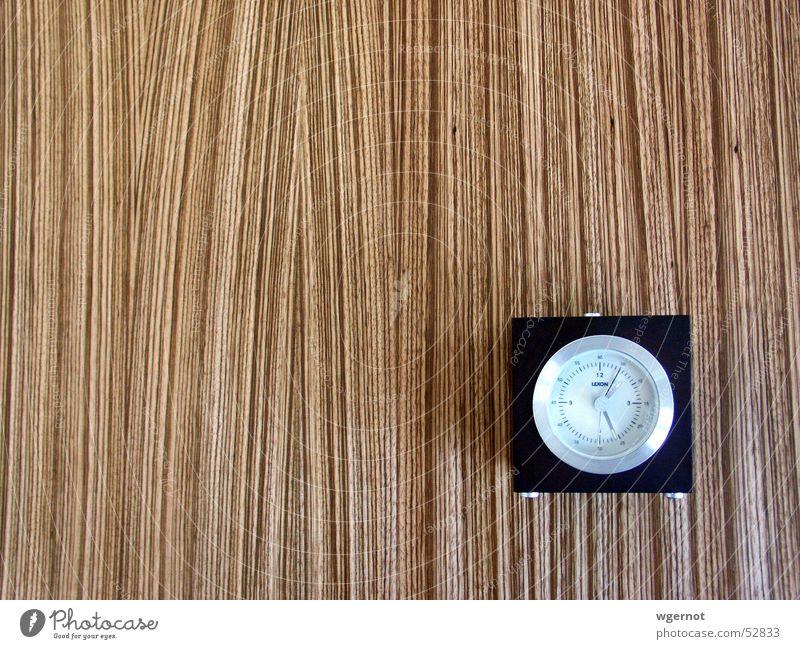 Wecker Holz braun Zeit Uhr Streifen Brettwurzelbaum Uhrenzeiger