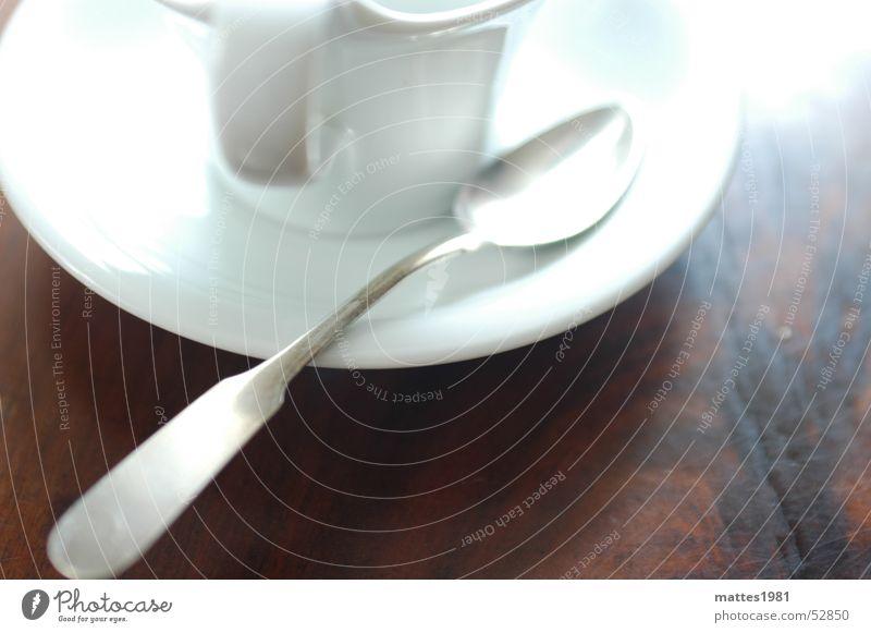 Der Löffel Erholung trinken Dorf Tee Schaum Verabredung