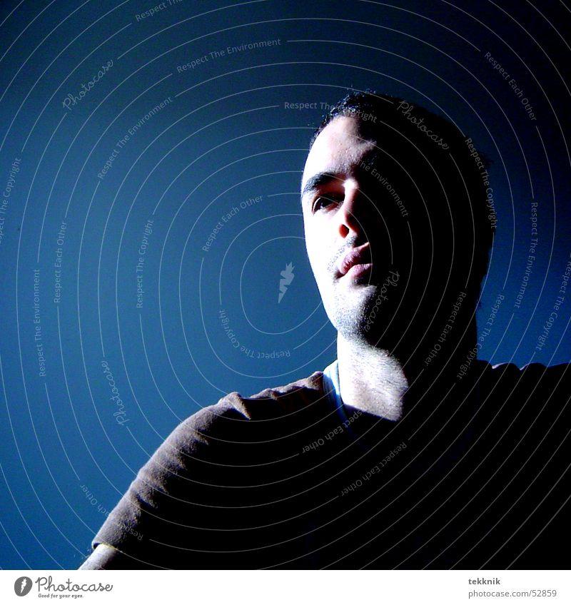 me and my shadow Silhouette Belichtung Porträt Selbstportrait Schatten Profil Mensch
