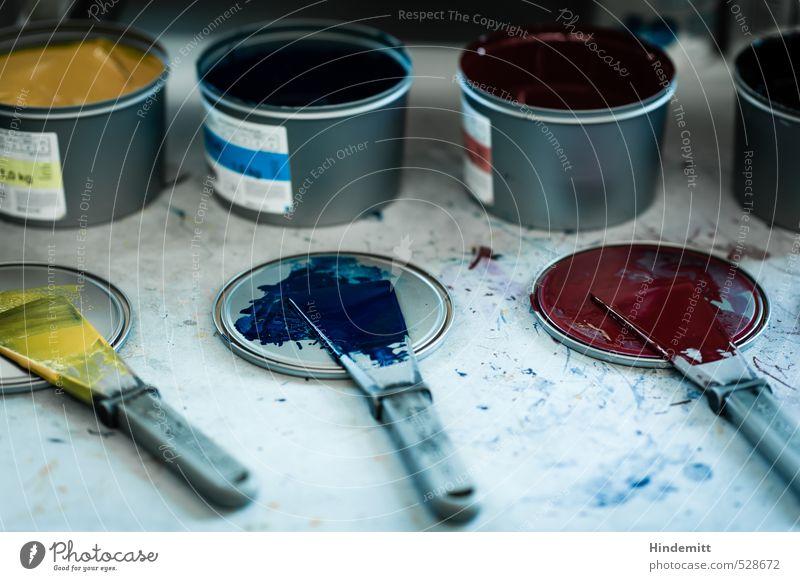 """""""1,0 kg"""" blau weiß rot gelb Farbstoff Metall Arbeit & Erwerbstätigkeit rund Flüssigkeit Werkstatt Dienstleistungsgewerbe Handwerk silber Unternehmen"""