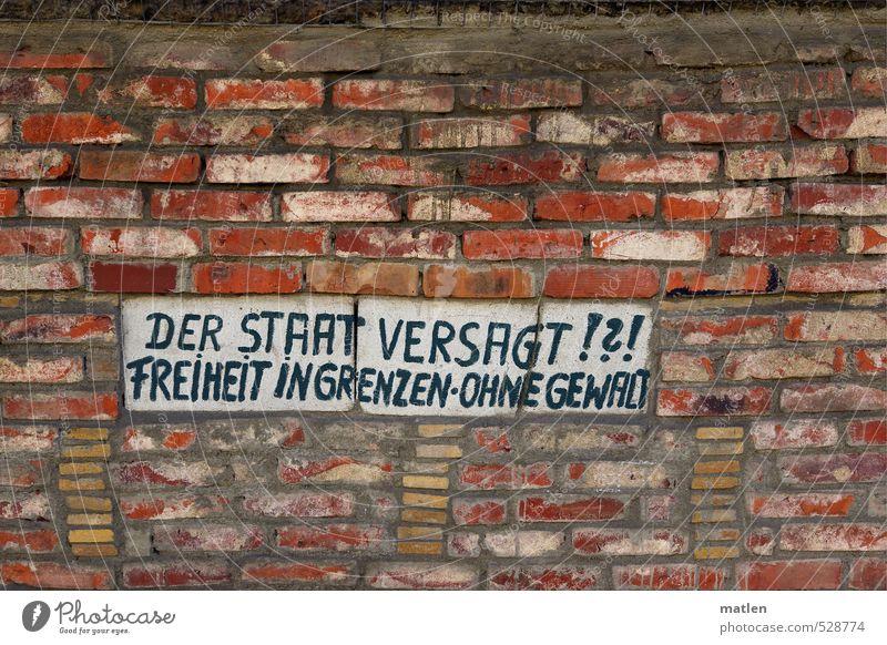 konkret weiß rot Haus schwarz Wand Mauer Backstein