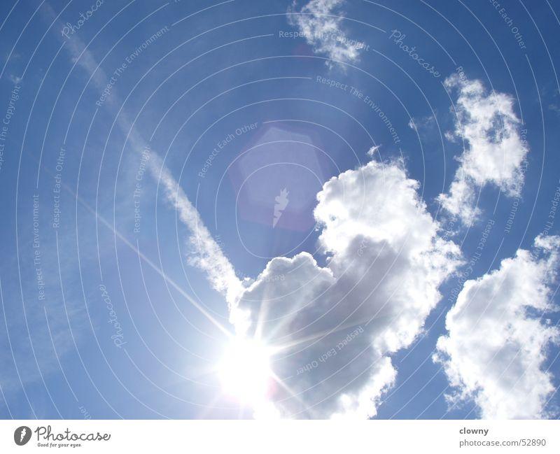 Licht im Himmel blau Wolken