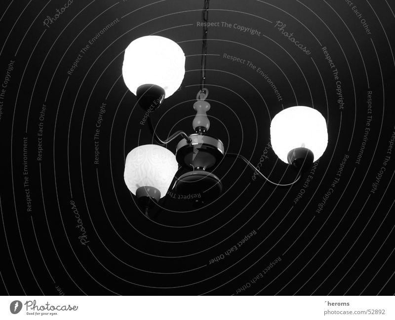Lampe Deckenlampe Schwarzweißfoto b&w