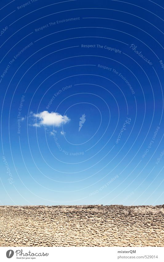 French Style XXIX Kunst ästhetisch Zufriedenheit Himmel Sonne Blauer Himmel Wolken Wind Ferien & Urlaub & Reisen Kontrast Frankreich Provence Sommerurlaub