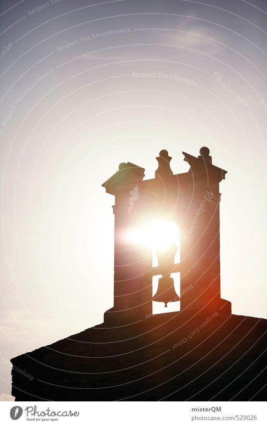 French Style XXX Kunst ästhetisch Zufriedenheit Kirchturm Kirchturmspitze Glocke Glockenturm Sommer Religion & Glaube Hoffnung Kirche Hoffnungsstrahl Frankreich
