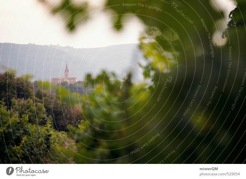 French Style XX grün Religion & Glaube Kunst Zufriedenheit ästhetisch Kirche Wein Dorf Frankreich verträumt Weingut