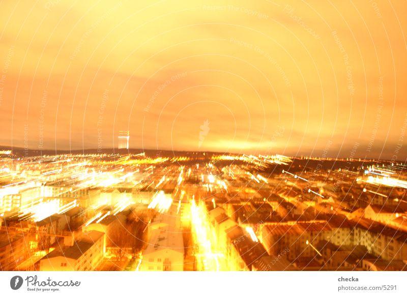 stuggitown zoom Stadt Stuttgart Langzeitbelichtung Nacht Geschwindigkeit Europa Licht Energiewirtschaft