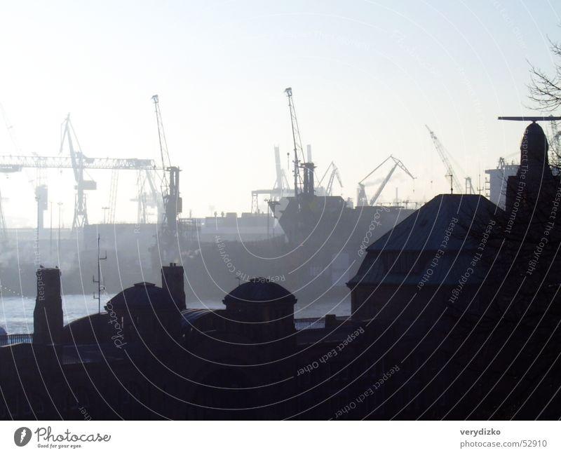 Landungsbrücken Dock Radarstation Kran Industriefotografie Hafen Anlegestelle Hamburg blohm Wasser Elbe Nordsee Schiffswerft
