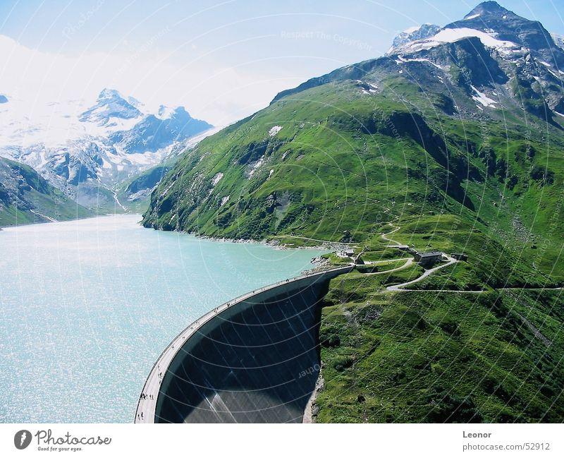 Kapruner Stausee Mooserboden Österreich Europa Tourist Wasseroberfläche Gletscher wandern Staumauer Berge u. Gebirge See Panorama (Aussicht) Gipfel