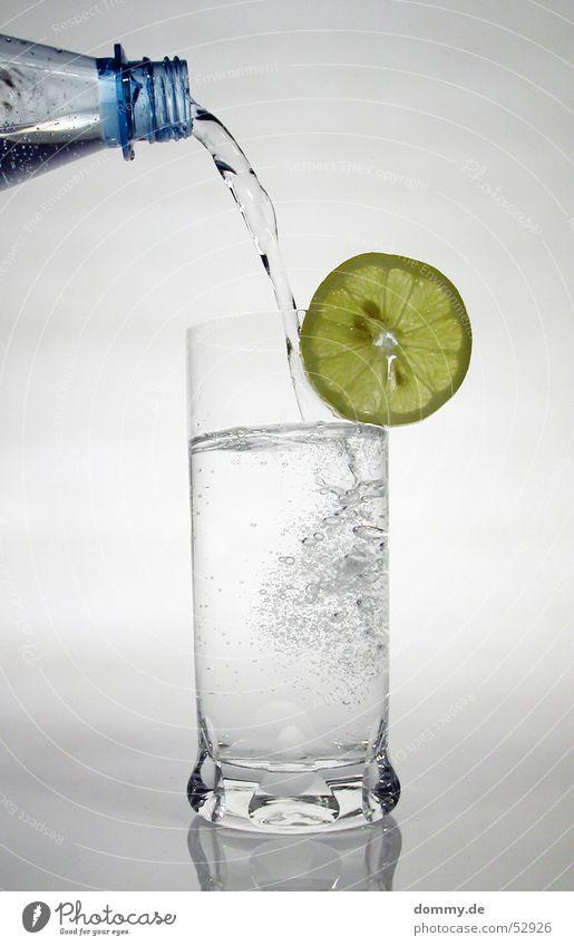 Zitronenwasser I Wasser weiß grün blau gelb grau Frucht trinken Wut Flüssigkeit Flasche gießen Trinkwasser Mineralwasser