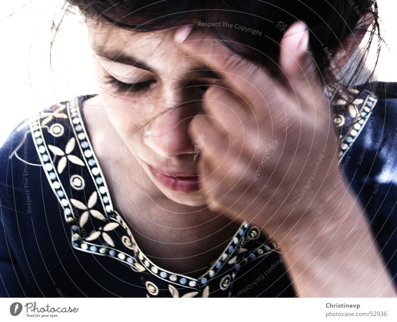 zigeunermädchen Kind Hand Mädchen Gesicht Haare & Frisuren Völker Sinti