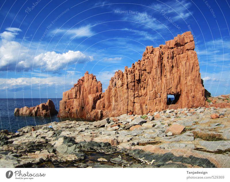 Ferien & Urlaub & Reisen Sommer Meer natürlich Felsen Tourismus Europa Insel Italien mediterran Blauer Himmel