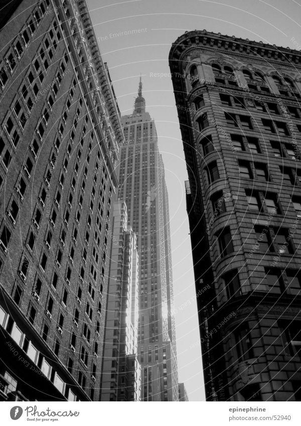 NY New York City New York State Hochhaus Schwarzweißfoto