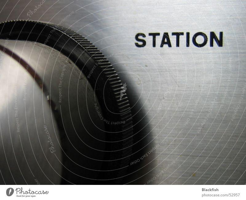 Sendersuche alt Musik rund Station Statue drehen Radio silber Klang Knöpfe laut WDR
