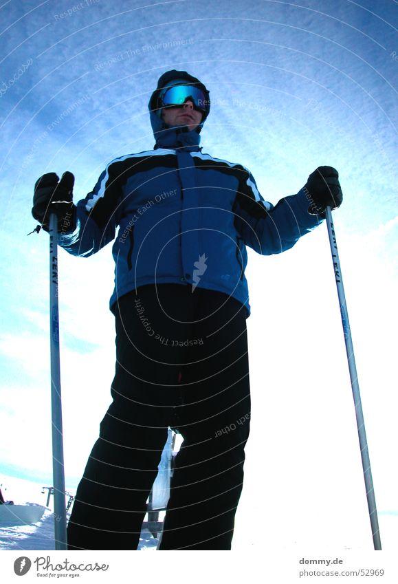 Gipfelstürmer II Mann Sonne Winter Sport Schnee Berge u. Gebirge fahren Brille stehen Skier Hose Gipfel Anzug Jacke Österreich Stock