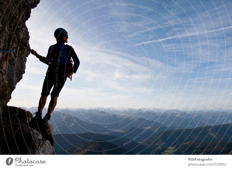 Steiner Irg Junior Mensch Jugendliche Freude Junger Mann 18-30 Jahre Erwachsene Berge u. Gebirge Sport Glück Felsen maskulin Kraft Zufriedenheit Lächeln Fröhlichkeit Seil
