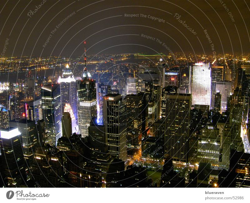 New York City - vom Empire aus Hochhaus Skyline New York City Stadt