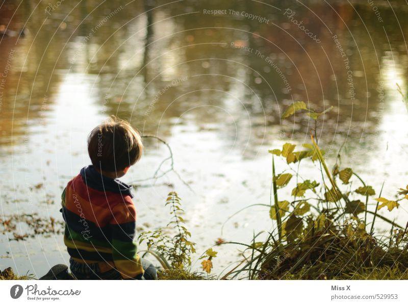 Angler XXI Mensch Kind Natur Wasser ruhig Gefühle Junge Küste Spielen See Stimmung Park maskulin Freizeit & Hobby Kindheit Zufriedenheit