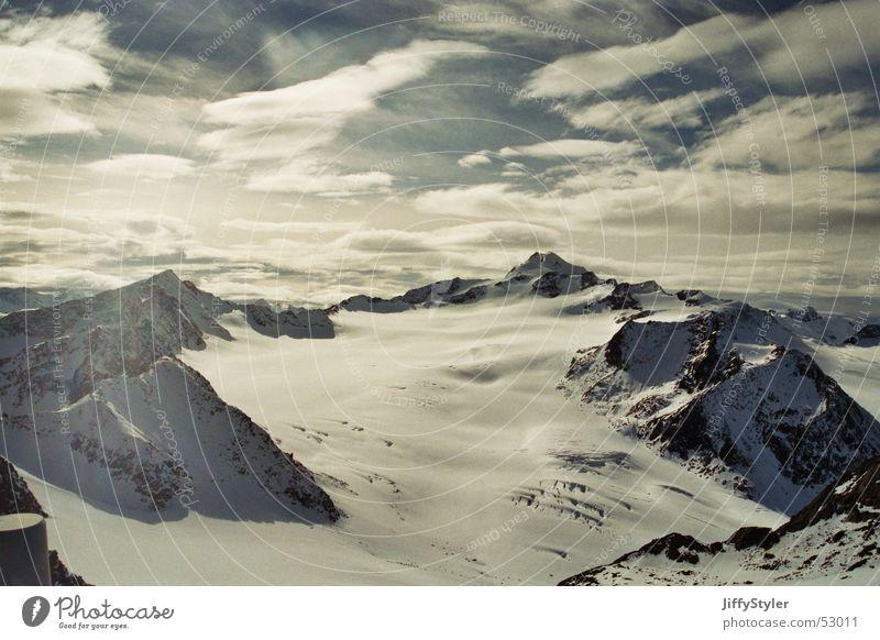 A Nice Day Gletscher Sölden Österreich Wolken Einsamkeit Berge u. Gebirge Himmel Schnee Eis Felsen Ferne Freiheit