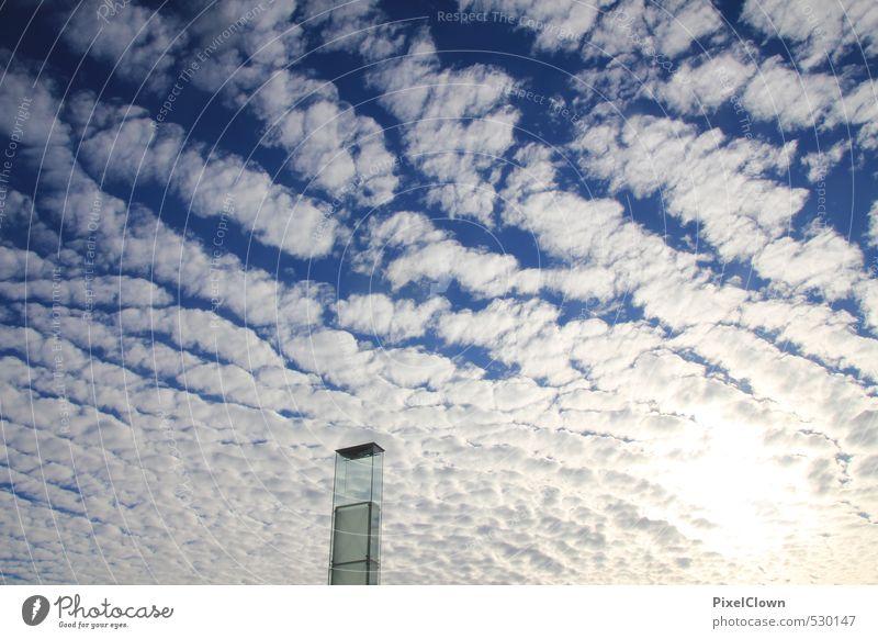 Blick gen Himmel Tourismus Ferne Freiheit Sommer Industrie Informationstechnologie Luftverkehr Fernsehen nur Himmel Wolken Horizont Wetter Schönes Wetter