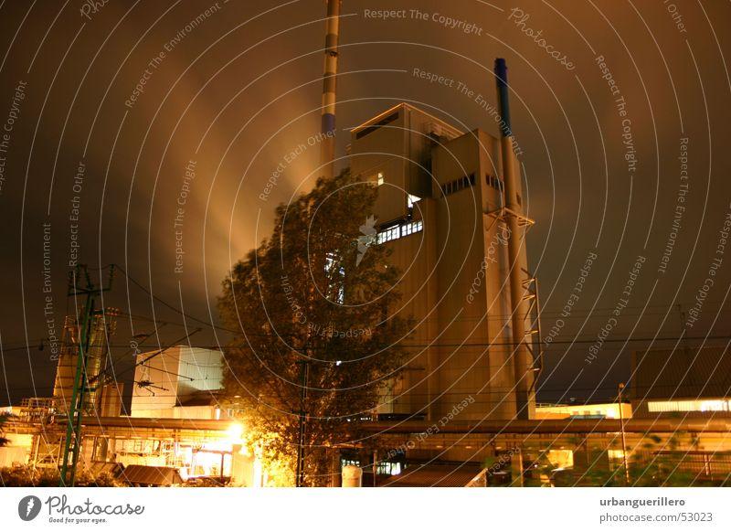 Boehringer Ingelheim Fabrik Kraft planen Pharmakonzern Boehringer Ingelheim Nacht Stimmung Langzeitbelichtung Luftverschmutzung Industriefotografie