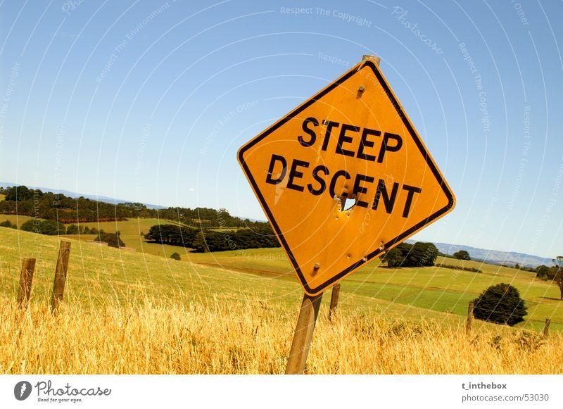 Steep Descent orange Bauernhof Australien normal