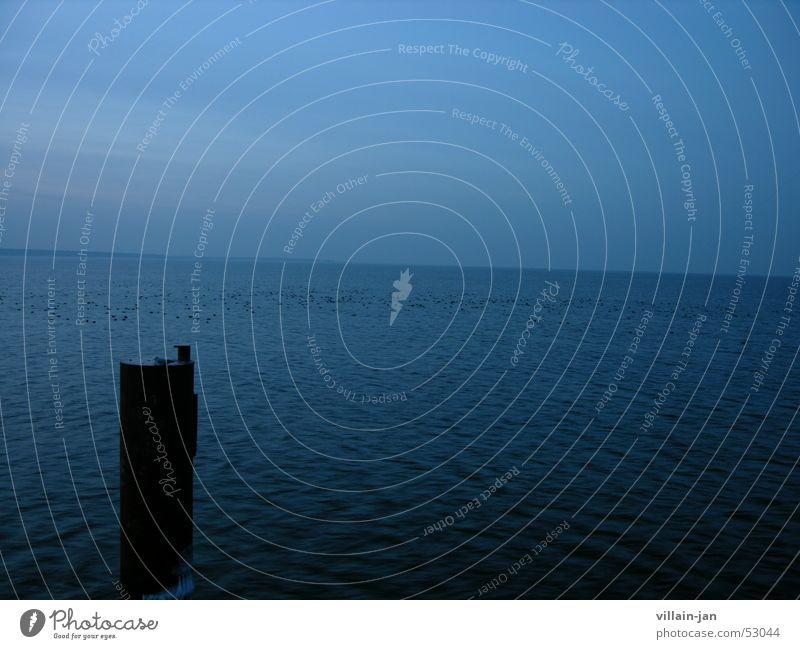 Ostsee Wasser Meer blau See Horizont