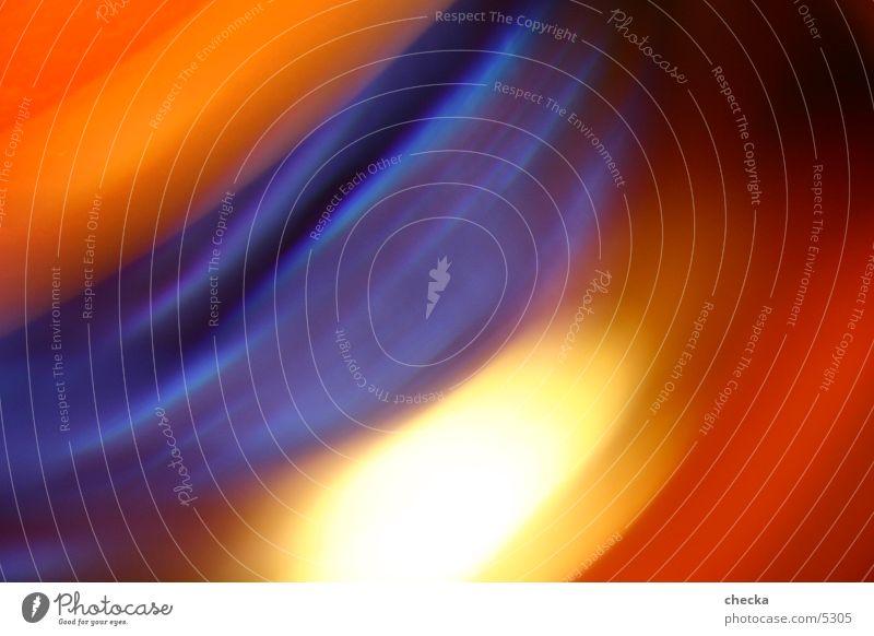 farbrausch blau Farbe orange Wellen Hintergrundbild Fototechnik