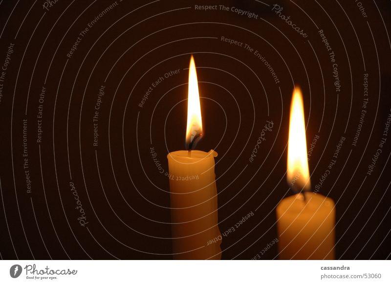 Kerzenschein Stimmung Nacht Wachs Licht dunkel gemütlich Flamme Abend Wärme