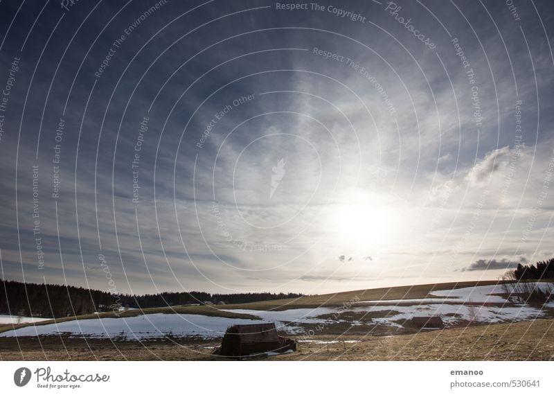 Winter auf dem Kandel Himmel Natur Ferien & Urlaub & Reisen blau Landschaft Wolken Wald Berge u. Gebirge Wiese Schnee hell Horizont Eis Feld Klima