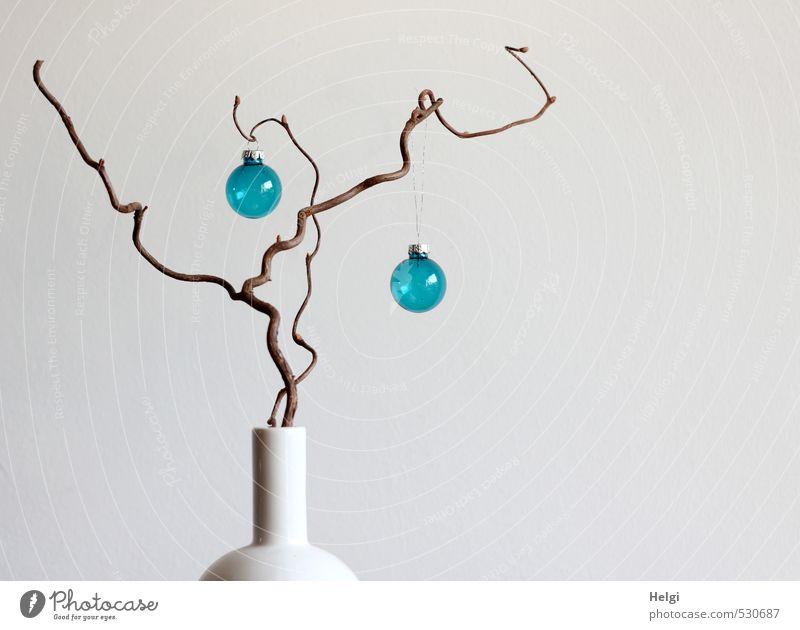 Christmas light blau schön Weihnachten & Advent weiß Feste & Feiern außergewöhnlich braun Wohnung Häusliches Leben Design stehen Dekoration & Verzierung