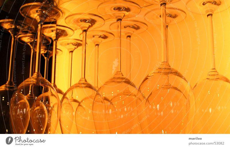 Gläser Licht Dinge Glas orange Kontrast