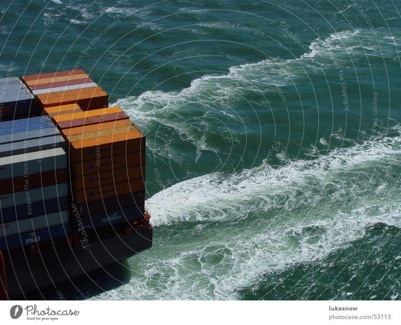 on the move Container San Francisco Golden Gate Bridge