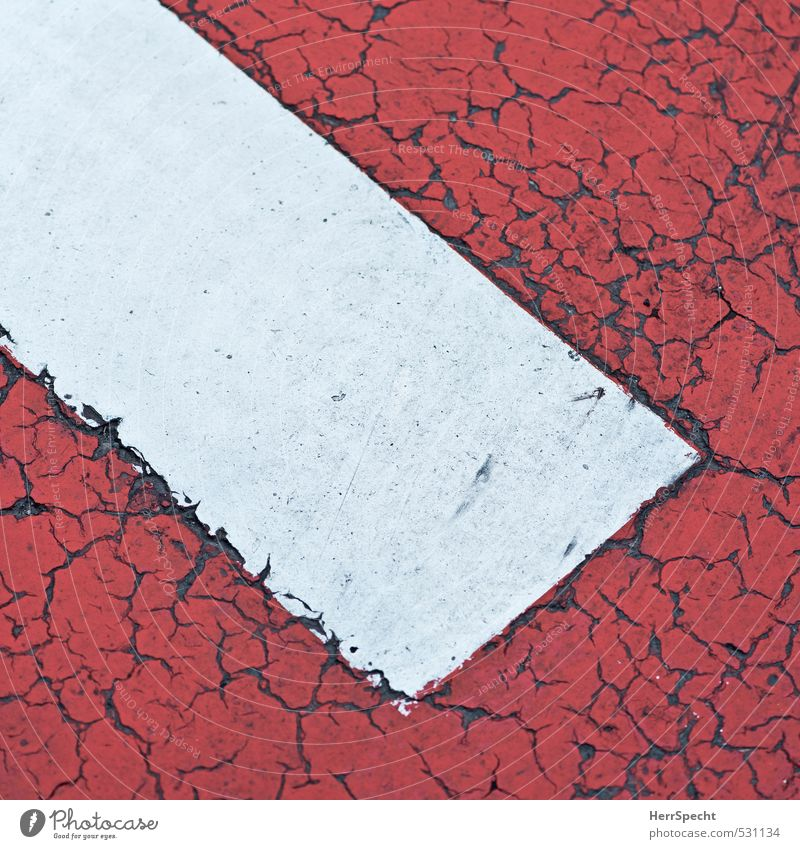 Fahrbot Straße Verkehrszeichen Verkehrsschild Zeichen Schilder & Markierungen Hinweisschild Warnschild alt kaputt rund rot weiß Bildausschnitt Verbotsschild