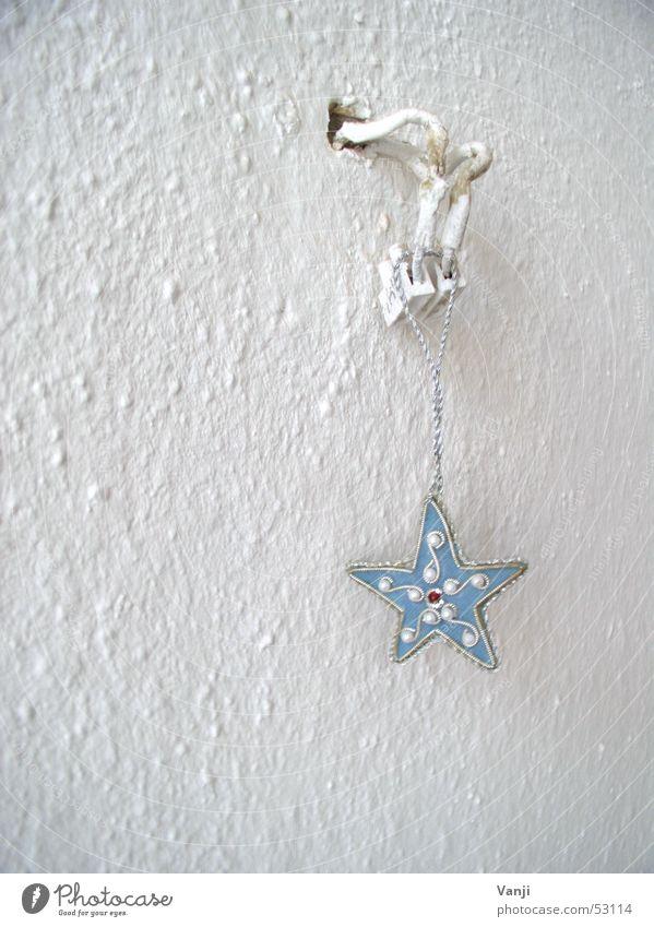 blauer Stern weiß Wand Kunst Stern (Symbol) Elektrizität Kabel Dekoration & Verzierung Tapete Schmuck hängen Haushalt aufhängen minimalistisch Kunsthandwerk